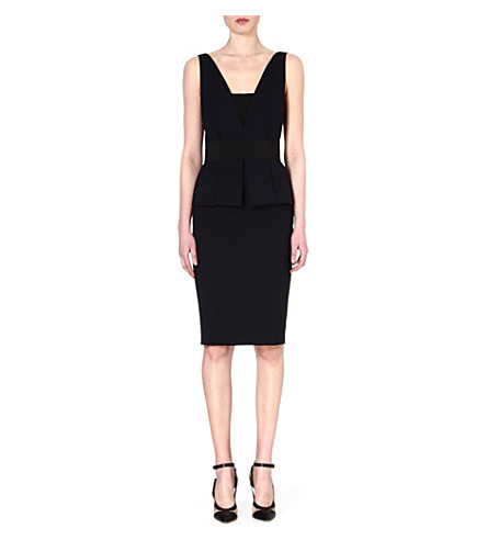 SPORTMAX Fibra peplum dress (Navy/black