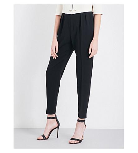 MAX MARA ELEGANTE Fiesta tapered crepe trousers (Black