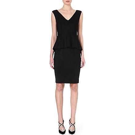 SPORTMAX Peplum jersey dress (Black