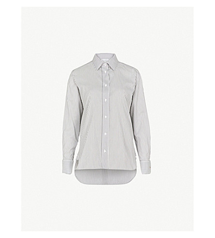 MAX MARA Filato cotton and silk-blend shirt (Grey