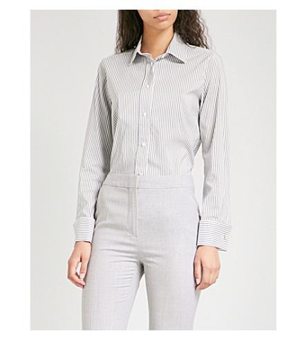 MAX MARA Filato cotton and silk-blend shirt (Grey