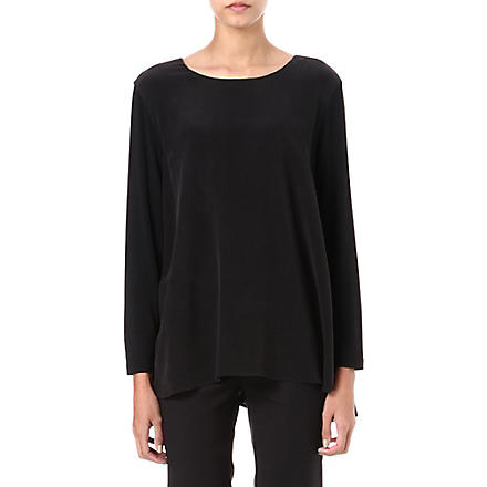 SPORTMAX Filippo silk top (Black