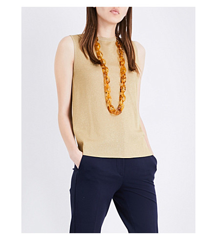 SPORTMAX Filo wool-blend top (Gold