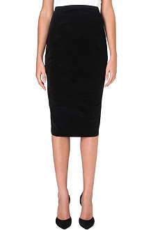 SPORTMAX Velvet pencil skirt