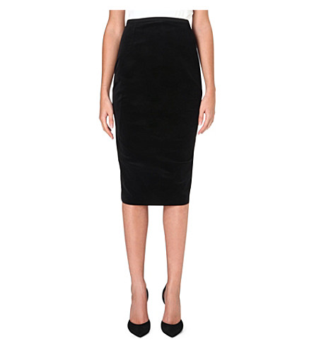 SPORTMAX Velvet pencil skirt (Black