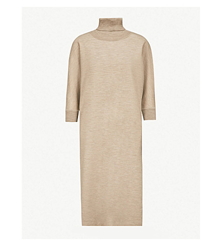 MAX MARA Freda wool and cashmere-blend dress (Turtledove