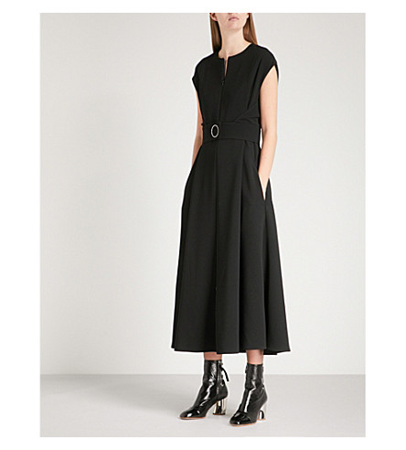 SPORTMAX Frisia belted crepe midi dress (Black