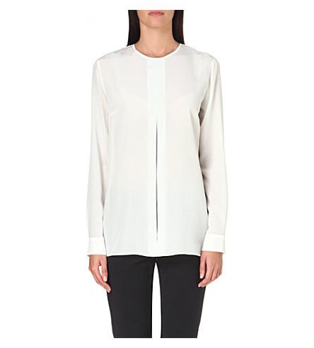 SPORTMAX Split-detail silk top (White