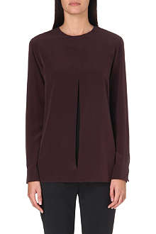 SPORTMAX Split-detail silk top