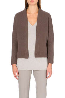 MAX MARA Fuxia wool and cashmere-blend wrap cardigan
