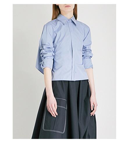 SPORTMAX Gap cotton-blend shirt (Avio