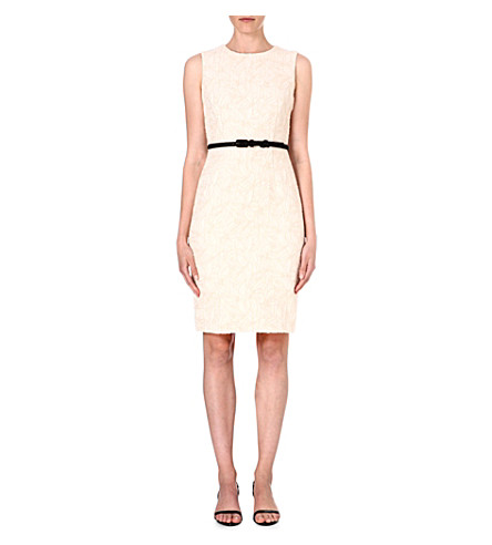 MAX MARA PIANOFORTE Embroidered floral shift dress (Ivory