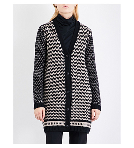 MAX MARA Gatto wool and cashmere-blend cardigan (Black
