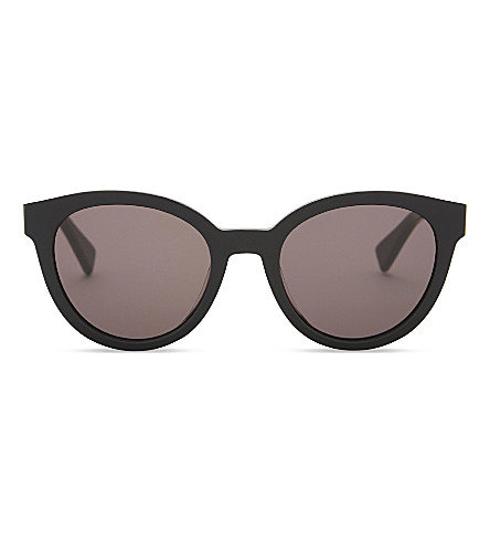 MAX MARA MM8077 Gemini2 round-frame sunglasses (Black
