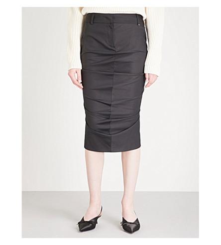 SPORTMAX Gene cotton-blend skirt (Black
