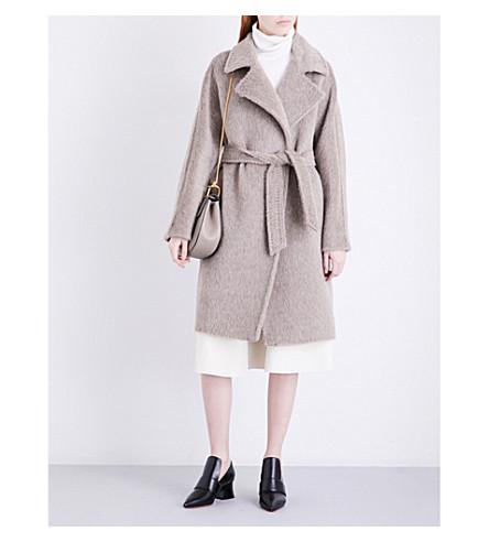 MAX MARA Genzana alpaca and wool-blend wrap coat (Turtledove