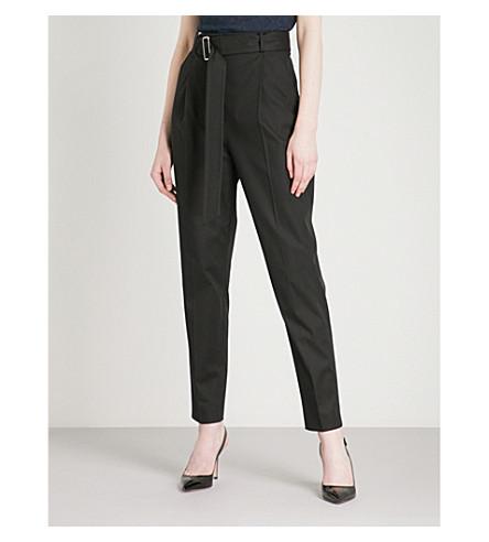 MAX MARA Gerard high waist cotton trousers (Black