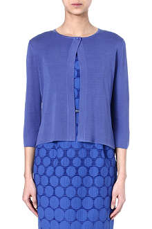 MAX MARA Getti cropped silk cardigan
