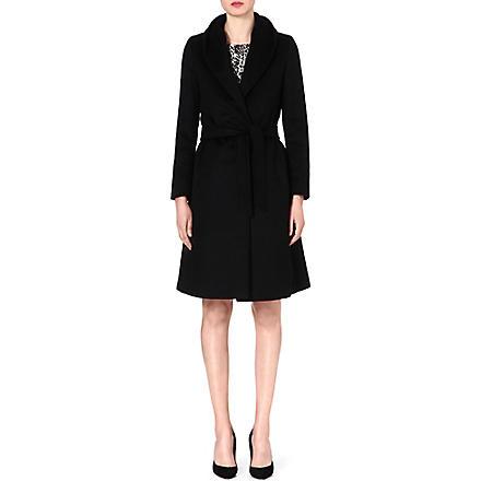 MAX MARA Ghetta classic cashmere wrap coat (Black