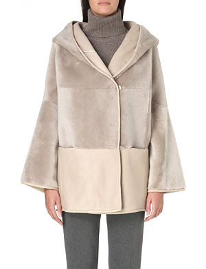 MAX MARA Giambo reversible shearling-panel coat