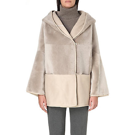 MAX MARA Giambo reversible shearling-panel coat (Ice
