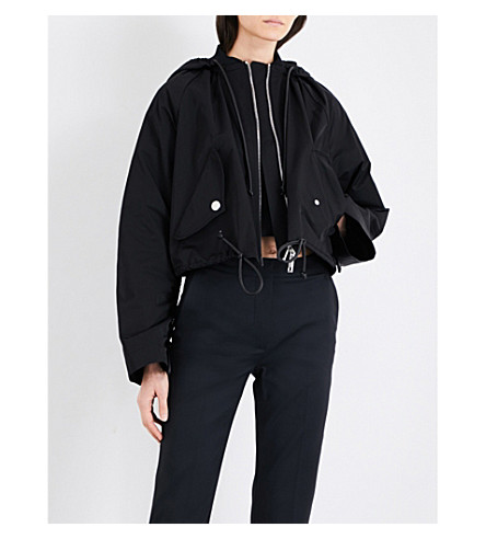 SPORTMAX Giava short shell parka jacket (Black