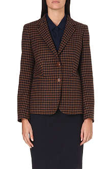 MAX MARA Gin checked wool and cashmere-blend blazer