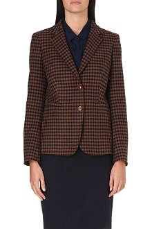 MAX MARA Gin checked wool and cashmere-blend blazer
