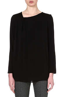 MAX MARA Pleat-detail silk top