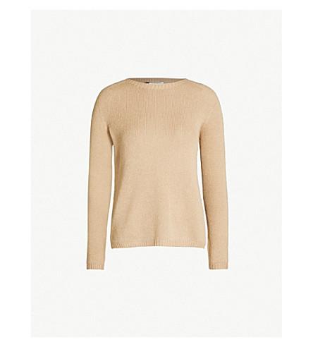 S MAX MARA Giorgio cable-knit cashmere jumper (Camel