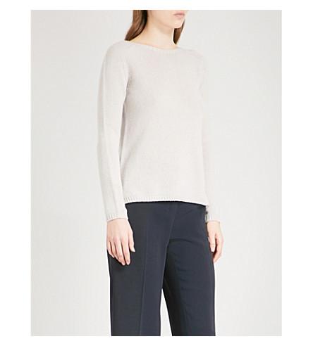 S MAX MARA Giorgio cable-knit cashmere jumper (Ice