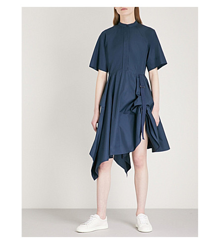 SPORTMAX Giraffa cotton dress (Midnightblue