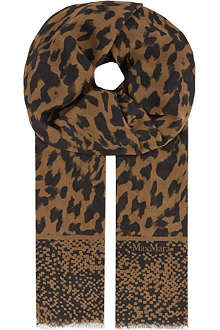 MAX MARA Houndstooth scarf
