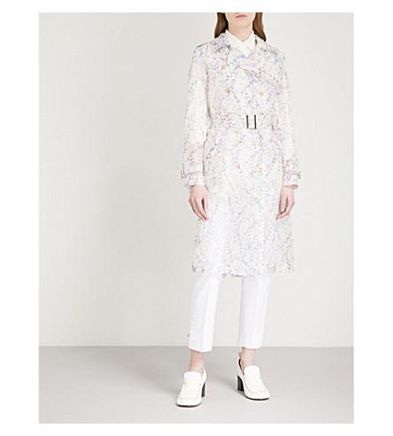 MAX MARA Giro floral-print silk organza coat (Lilac
