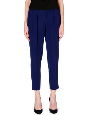 SPORTMAX Slouch pleat slim-fit tapered trousers