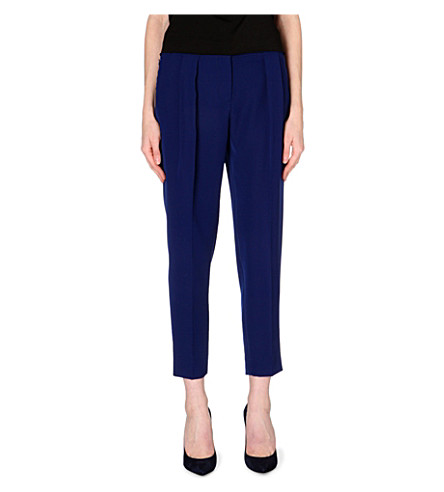 SPORTMAX Slouch pleat slim-fit tapered trousers (Ink