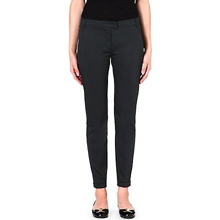 S MAX MARA Glamour slim-fit trousers (Green