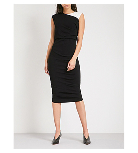 SPORTMAX Golfo sleeveless crepe dress (Black