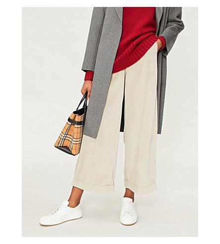 S MAX MARA Gondola high-rise wide-leg corduroy trousers (Ivory