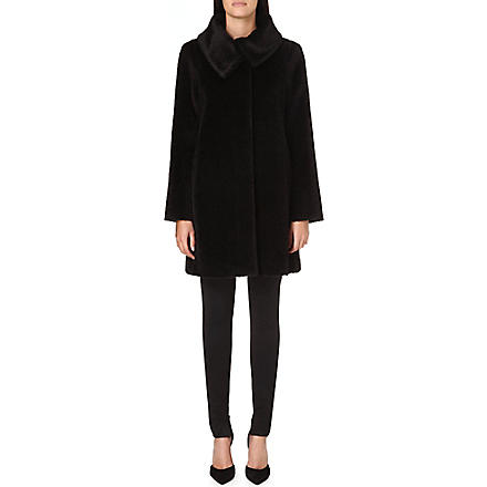 MAX MARA STUDIO Gregory alpaca and wool-blend coat (Black