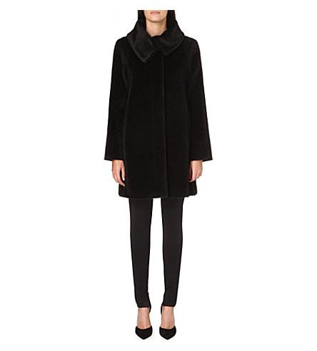 MAX MARA STUDIO Gregory alpaca and wool-blend coat (Black