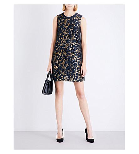 S MAX MARA Grolla floral-jacquard mini dress (Gold