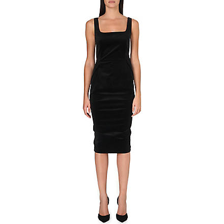 SPORTMAX Halle velvet dress (Black