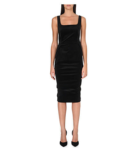SPORTMAX Halle velvet dress (Black