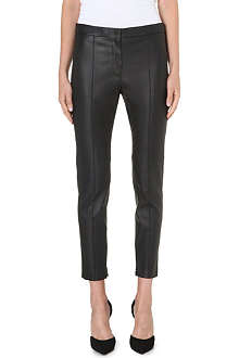 SPORTMAX Harold cropped leather trousers