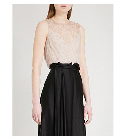 MAX MARA ELEGANTE Hiris sleeveless lace top (Ice