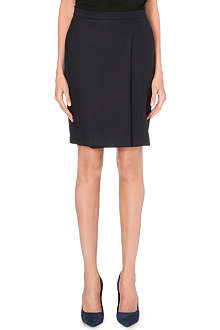 MAX MARA Side pleat wool skirt