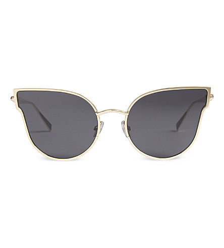 MAX MARA Ilde cat-eye frame sunglasses (Black