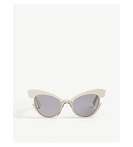 MAX MARA Ingrid cat-eye sunglasses (Biege