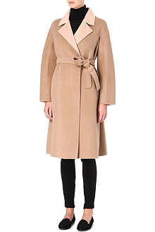 MAX MARA STUDIO Two-toned belted coat